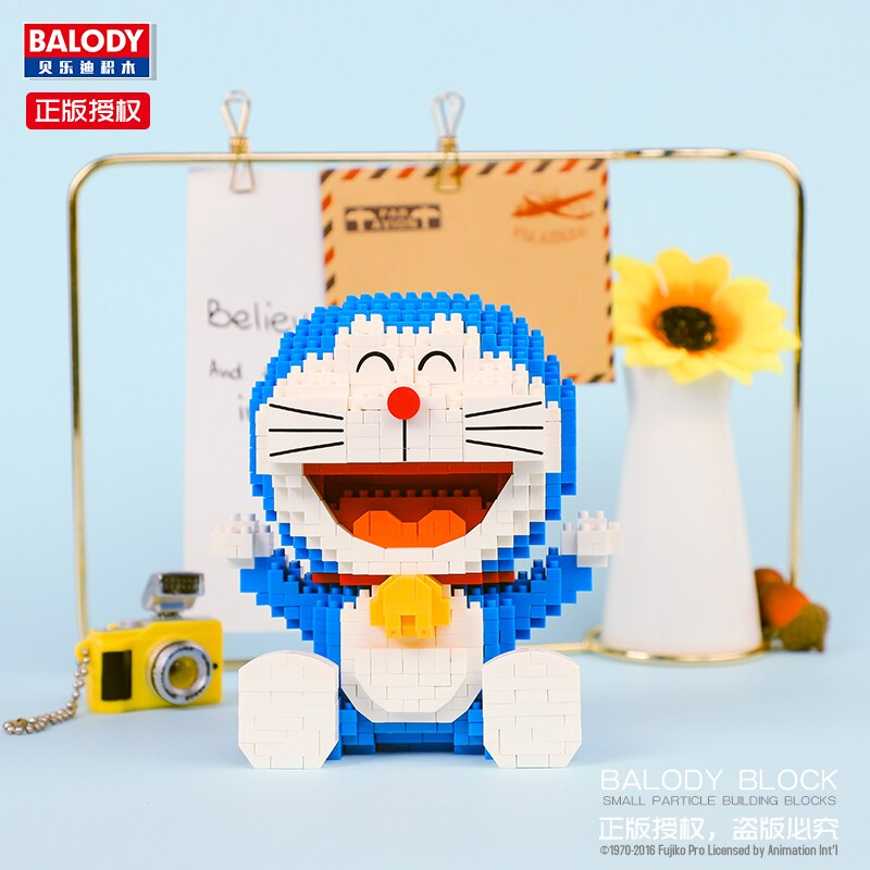 BALODY 16131 Doraemon Sit Mini Bricks