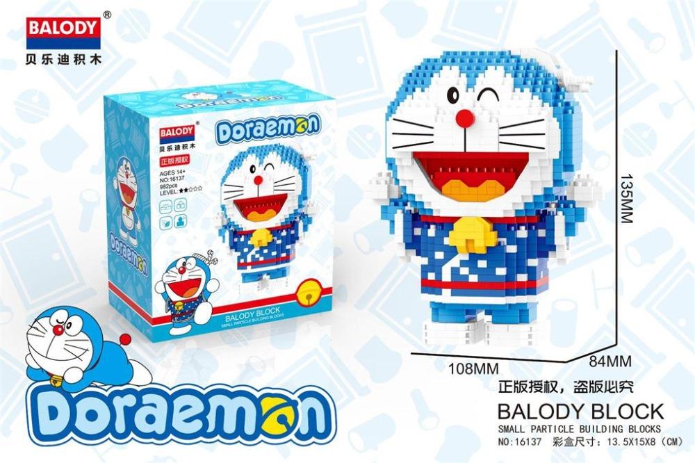 BALODY 16136-16137 Doraemon Around The World Series