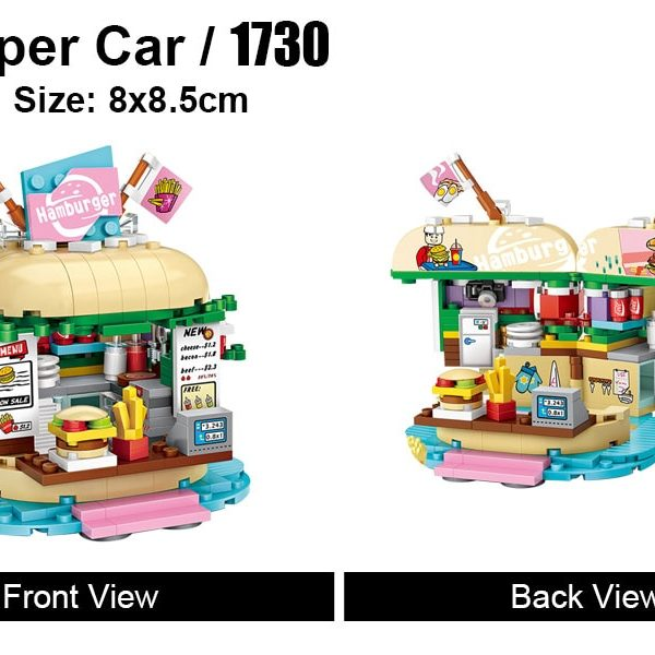 LOZ 1730 Burger Shop Building Blocks