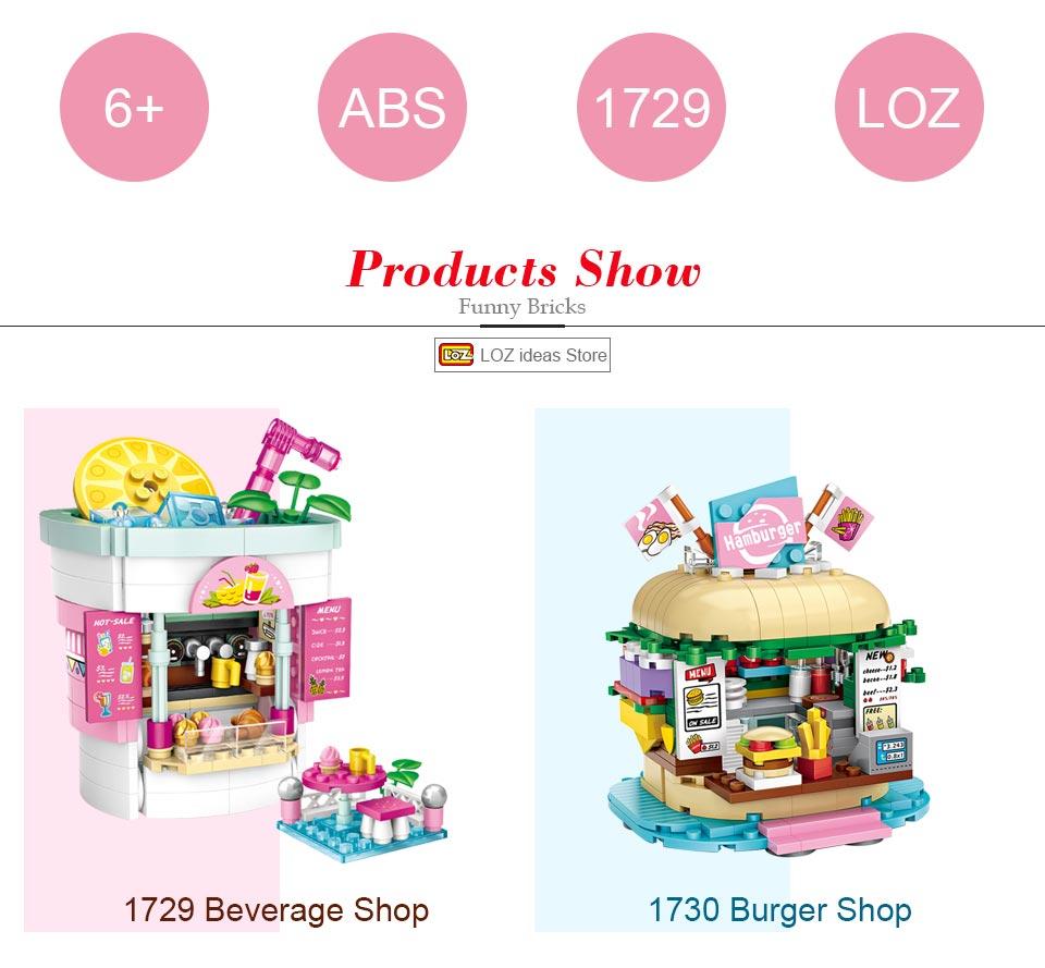 LOZ 1729 1730 Beverage Shop And Burger Shop