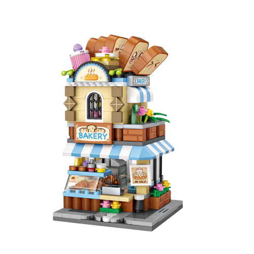 LOZ 1645 1646 1647 1648 Street Store Bundle Mini Bricks