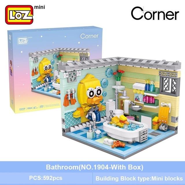 LOZ 1904 Bathroom Mini Bricks
