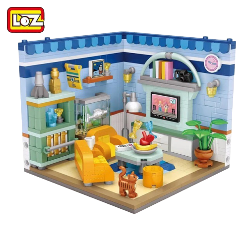 LOZ 1901 Living Room Mini Bricks