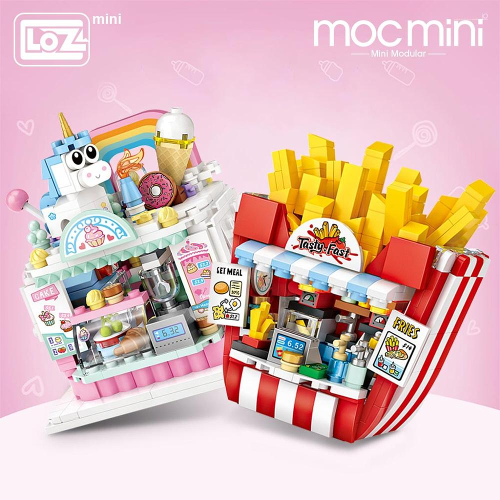 LOZ 1732 French Fries Shop Building Blocks
