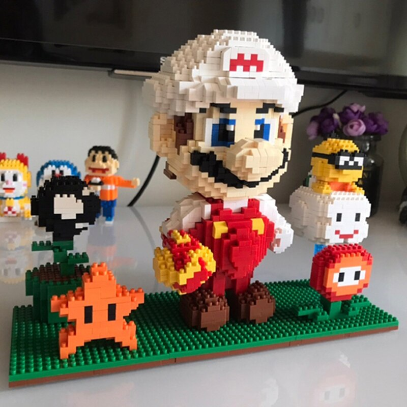 ZMS 3491 Super Mario White Fire Mario and Flower Star