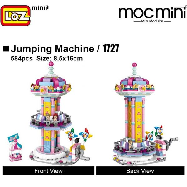 LOZ 1727 1728 Amusement Park Set Bundle Brickheadz