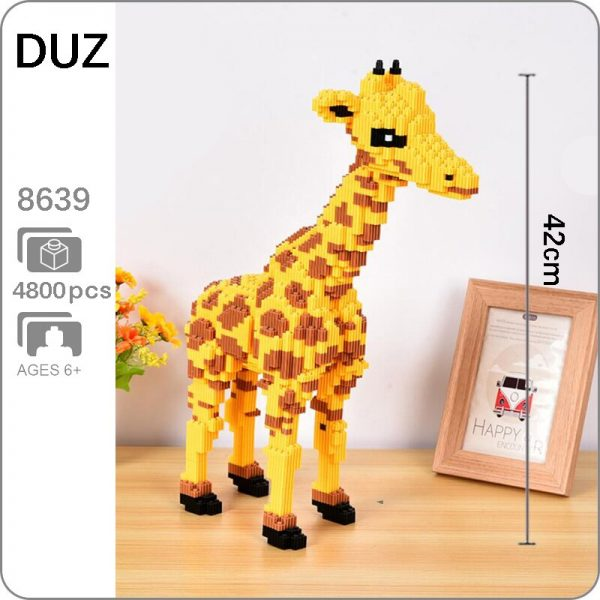 DUZ 8639 Yellow Giraffe Brickheadz