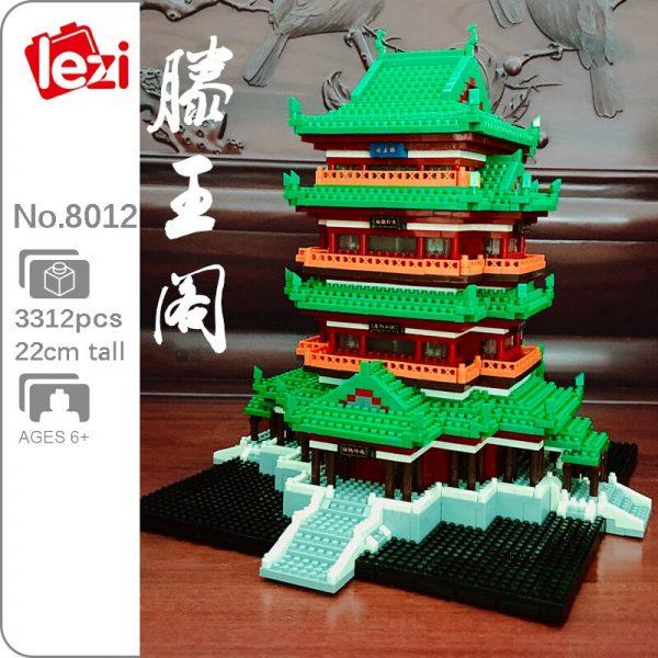 LEZI 8012 The Tengwang Pavilion Brickheadz