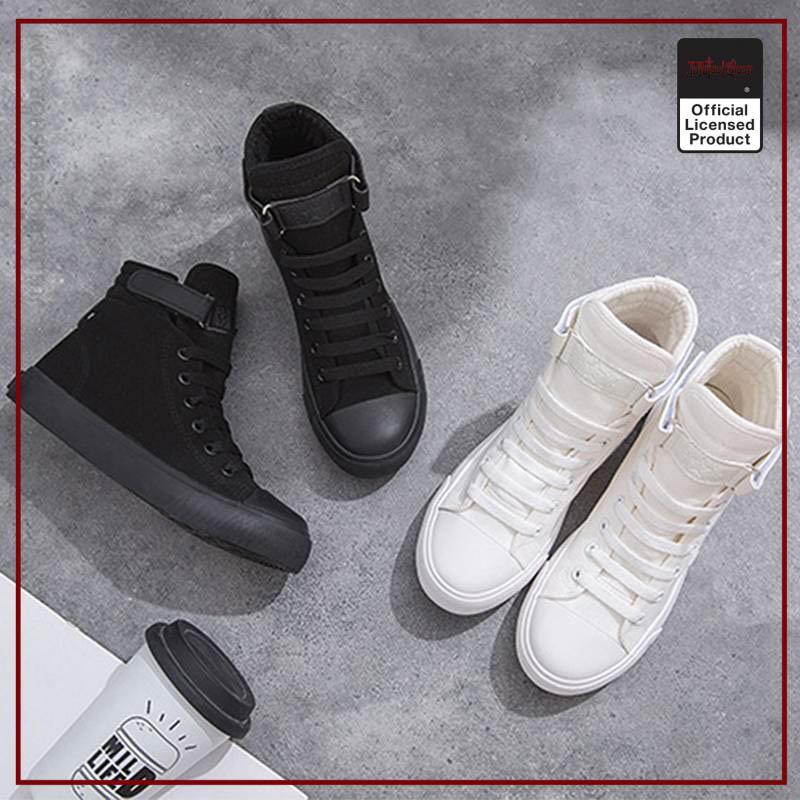 SUNOWE 2020 New Printed Jujutsu Kaisen High Top Canvas Shoes Men Women Fashion Breathable Sneakers 5 - Jujutsu Kaisen Shop