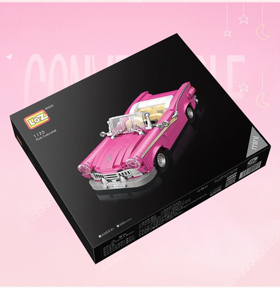 LOZ 1125 Pink Classic Car