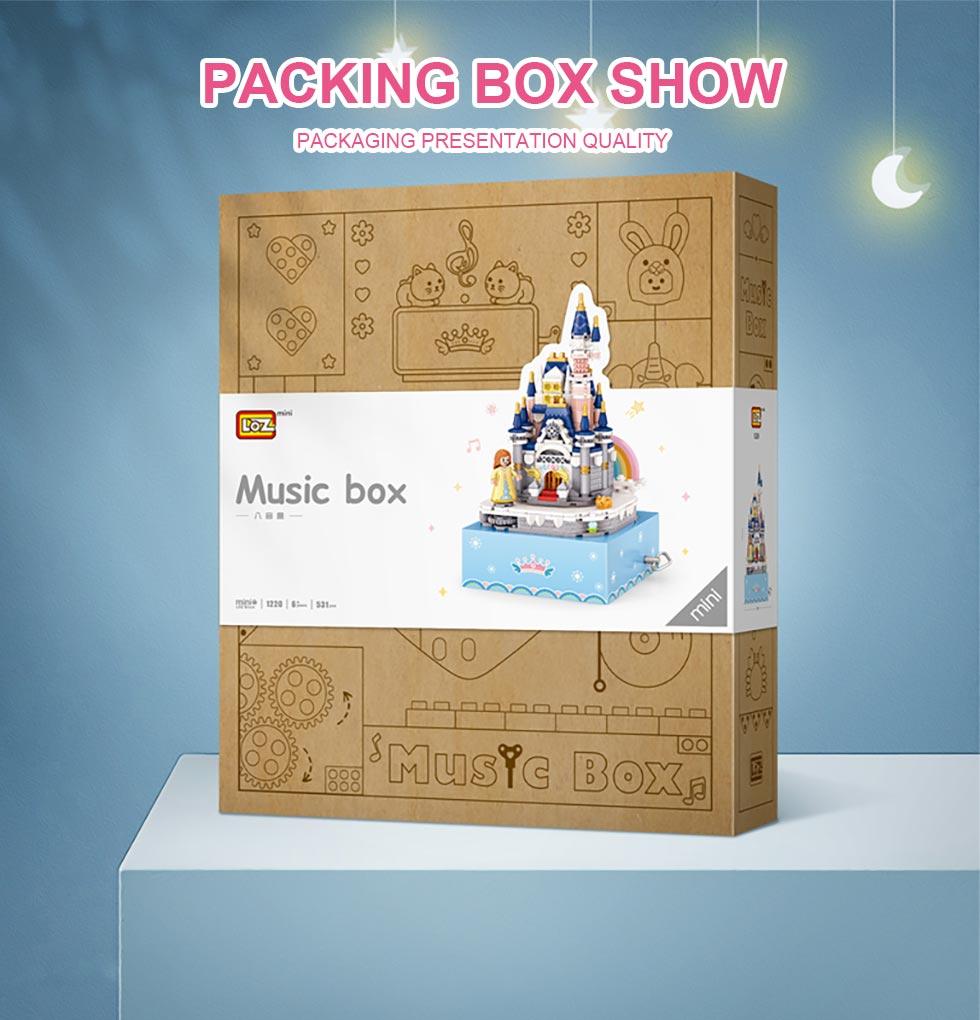 LOZ 1220 Princess Castle Rotating Music Box