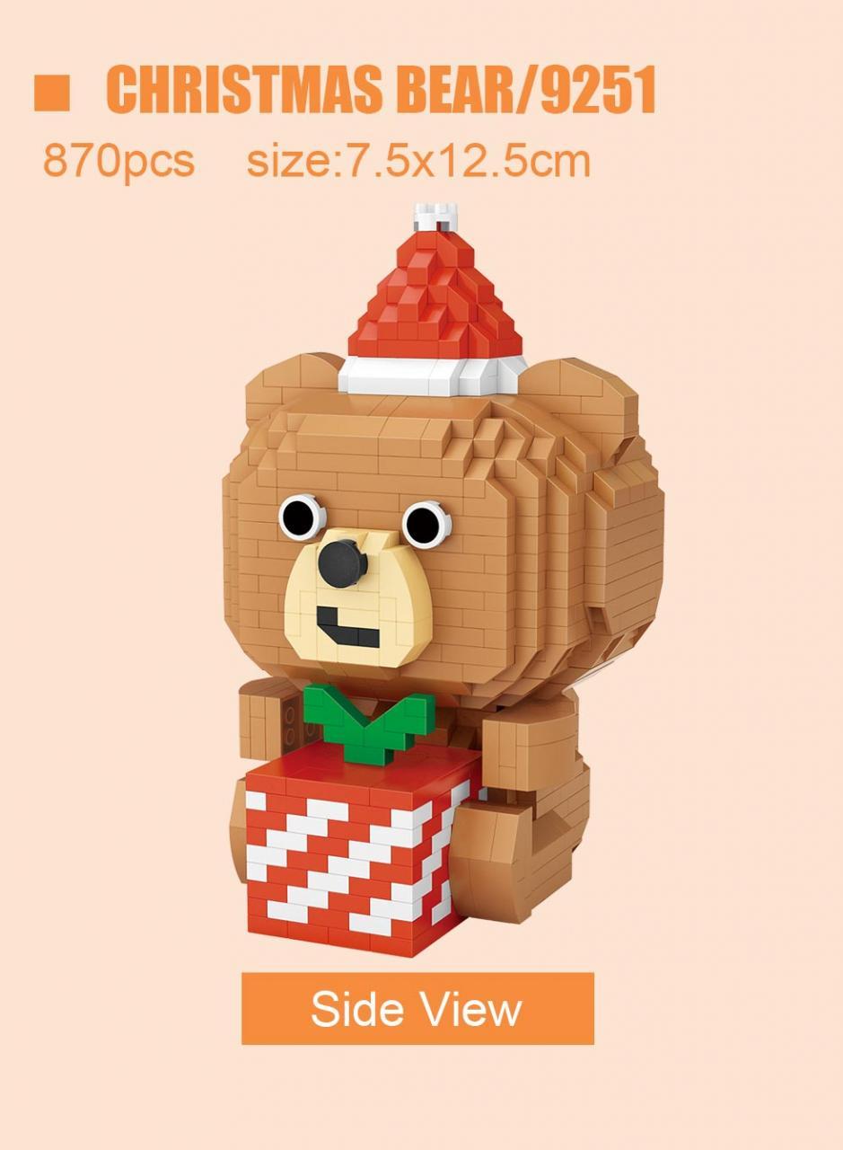 LOZ 9251-9256 Christmas Bear, Cherry Blossom Unicorn and Peach