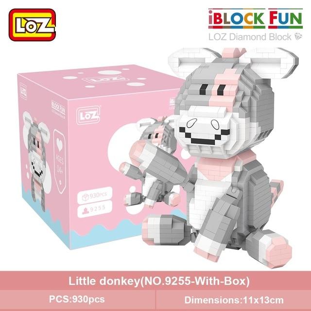 LOZ 9255-9257 Angel Pig and Little Donkey