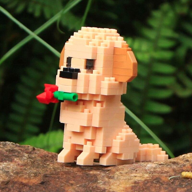 Balody 18248-6 Golden Retriever Dog with Rose