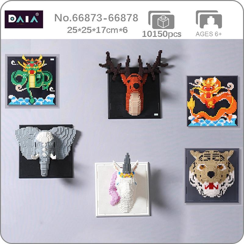 DAIA 66873-66878 Animal Head Wall Painting