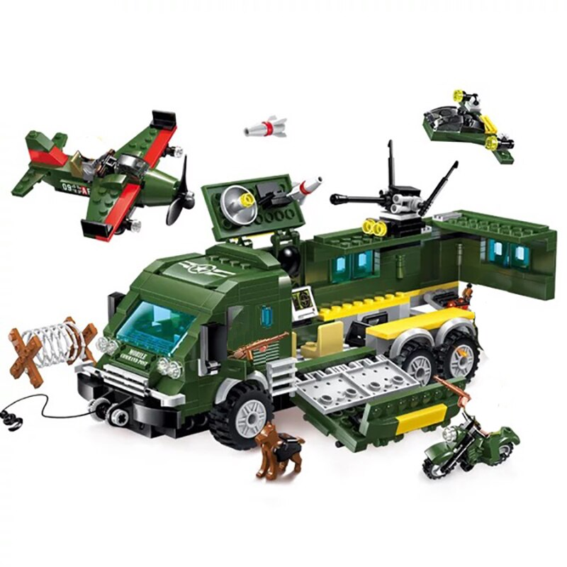 Enlighten 1709 Military Army Battle Force Truck and Plane
