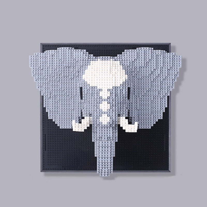 DAIA 66875 Elephant Head Wall Painting