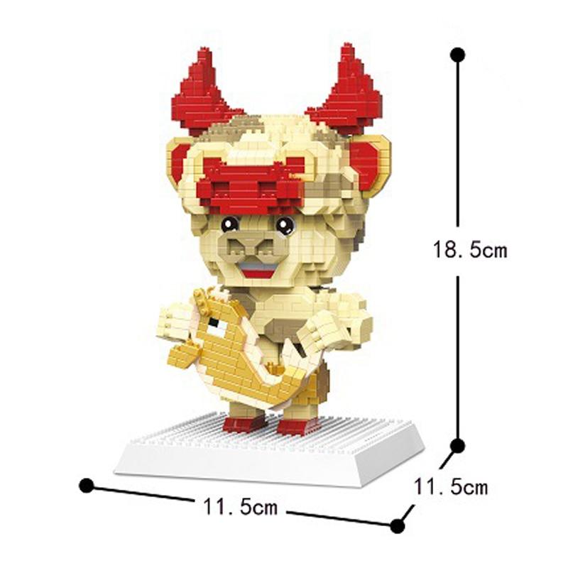 DAIA 66862 Chinese Zodiac Opera Fortune Gold Fish Bull