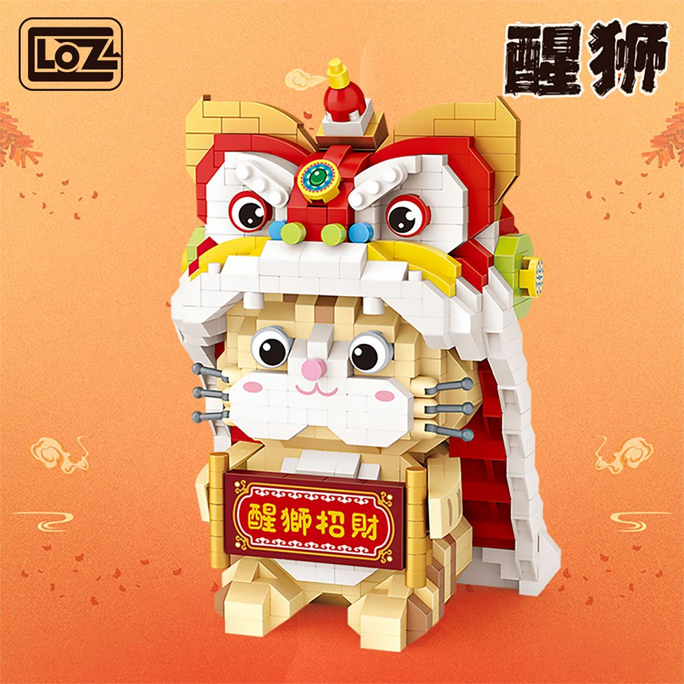 LOZ 9258 Lion Dance and Lucky Cat