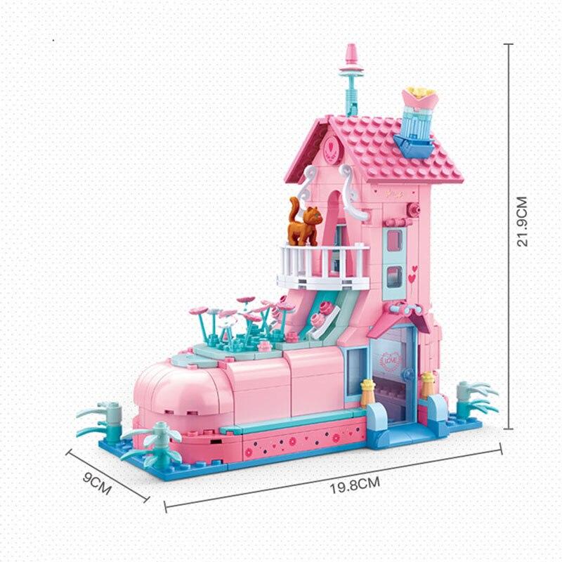 Sluban B0770 Pink Dream Wedding Shoe House