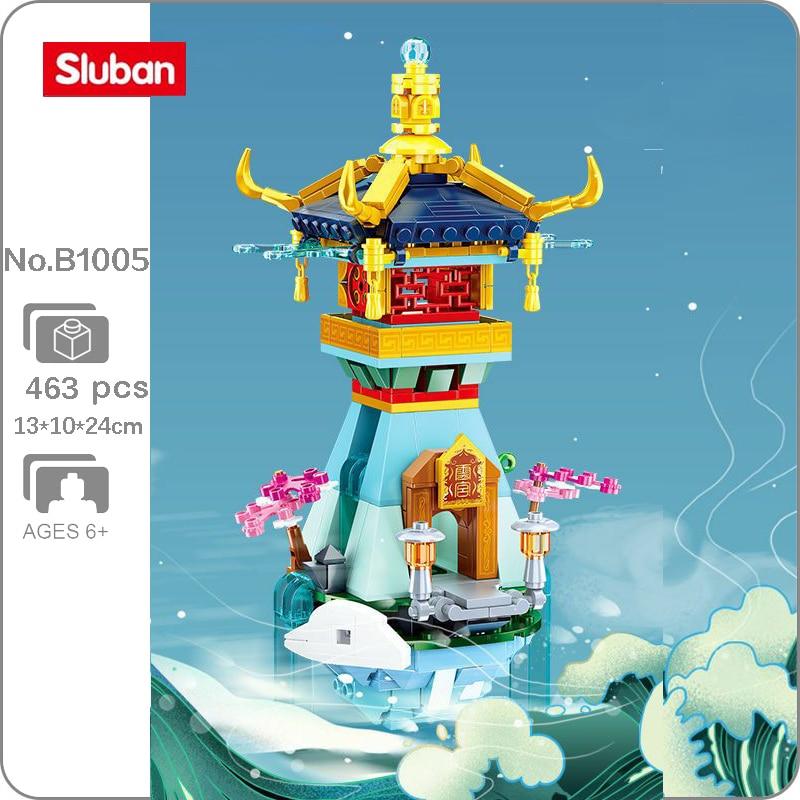 Sluban B.1005 Sakura Tree Fairy Pavilion Tower Palace